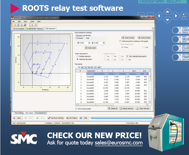 EuroSMC Mentor 12 relay tester and ROOTS